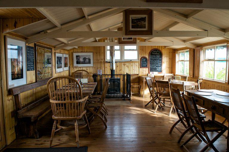 Wits End Cafe Sandsend Whitby Interior With Warm Log Burner